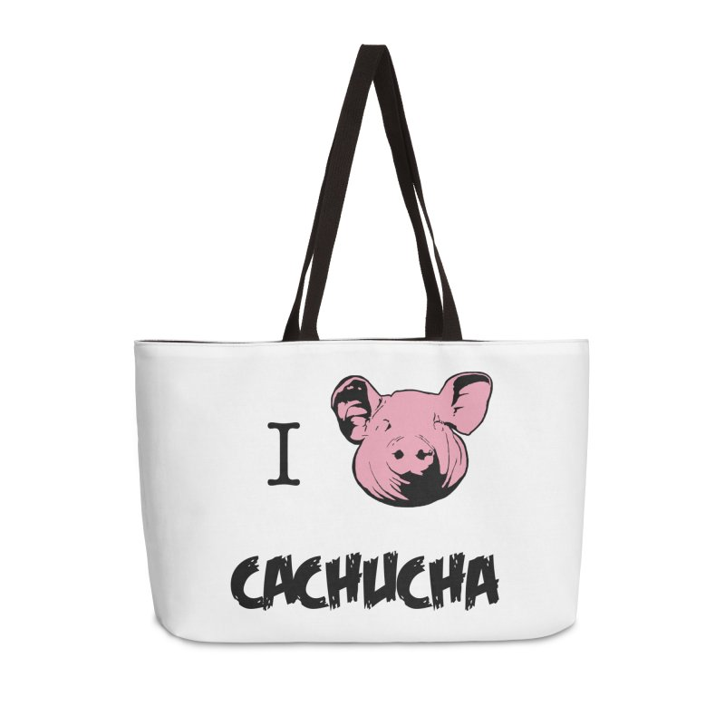 I love cachucha Accessories Weekender Bag Bag by peregraphs's Artist Shop
