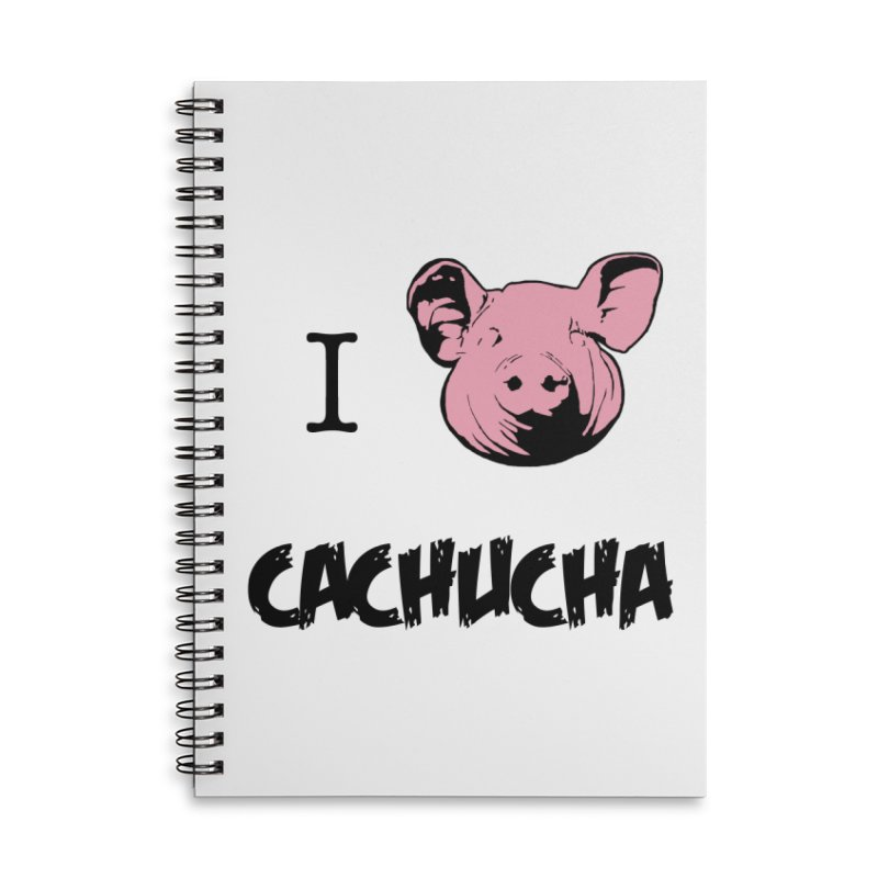 I love cachucha Accessories Lined Spiral Notebook by peregraphs's Artist Shop