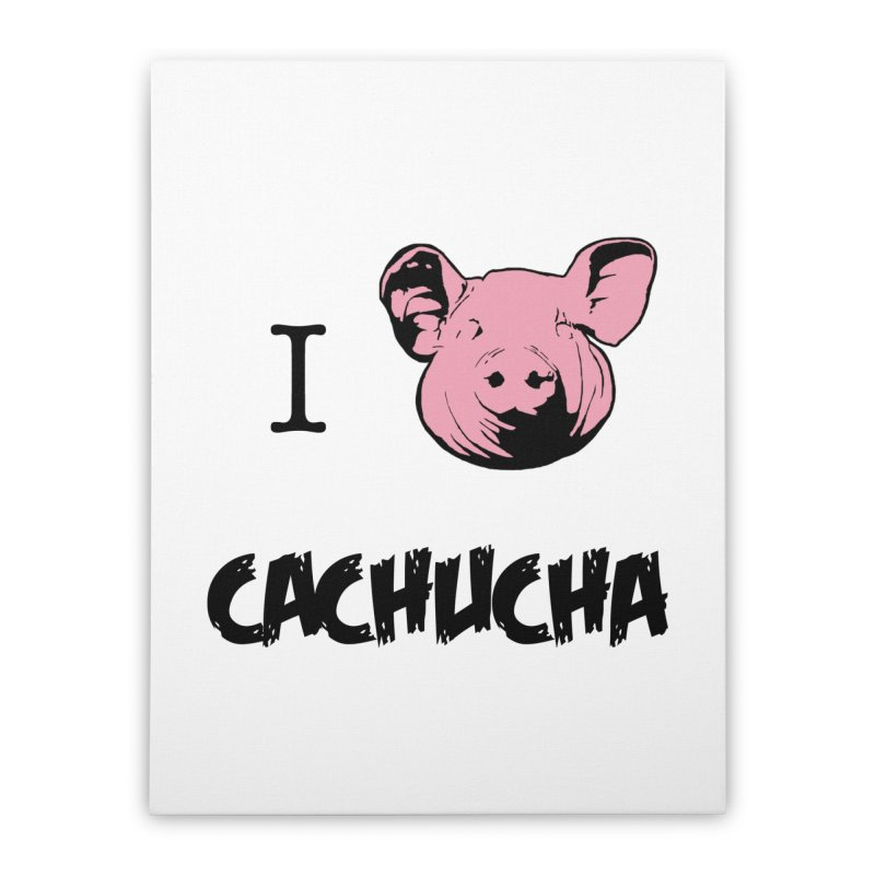 I love cachucha Home Stretched Canvas by peregraphs's Artist Shop
