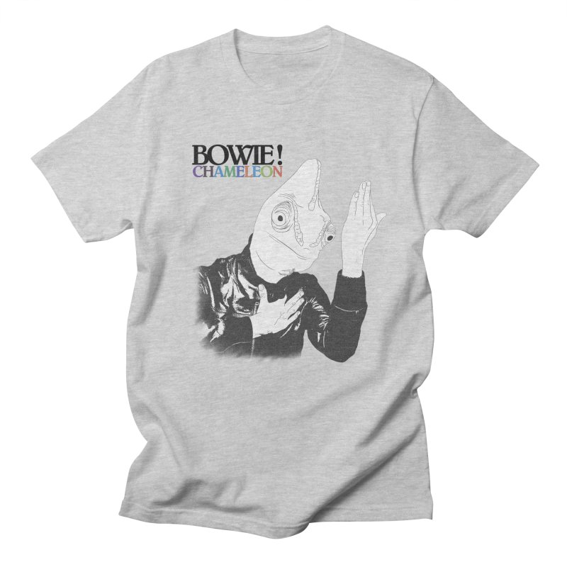 Bowie Chameleon in Men's Regular T-Shirt Heather Grey by peregraphs's Artist Shop