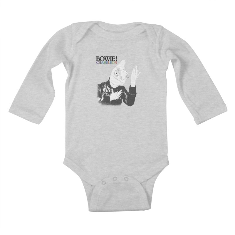 Bowie Chameleon Kids Baby Longsleeve Bodysuit by peregraphs's Artist Shop
