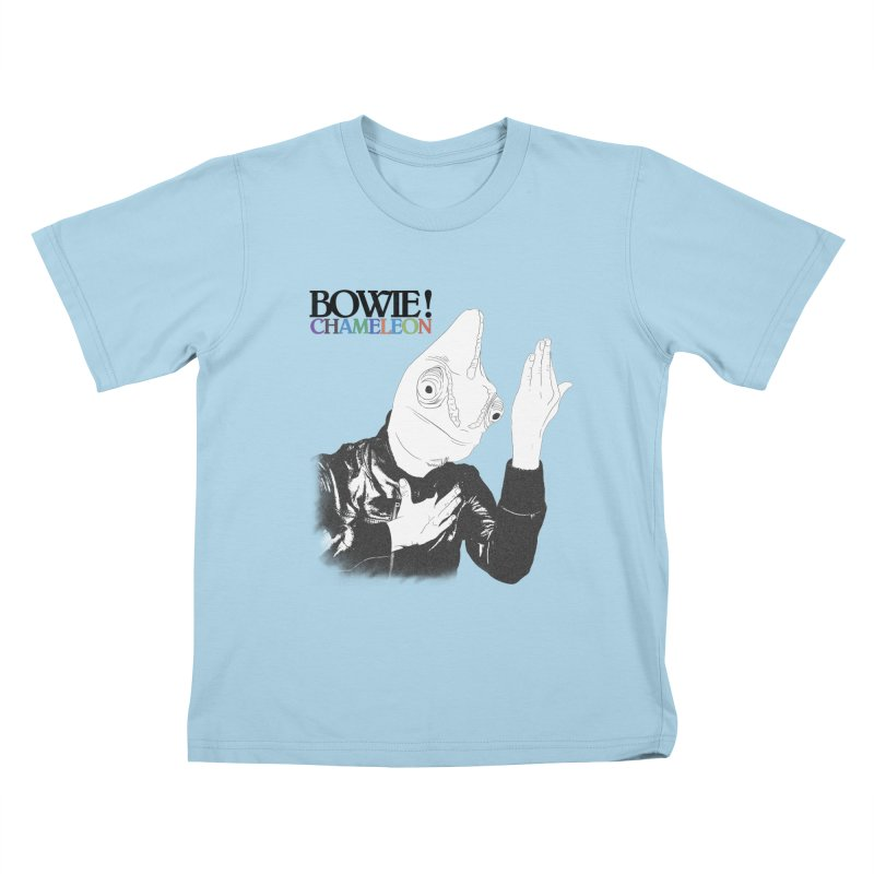 Bowie Chameleon Kids T-Shirt by peregraphs's Artist Shop