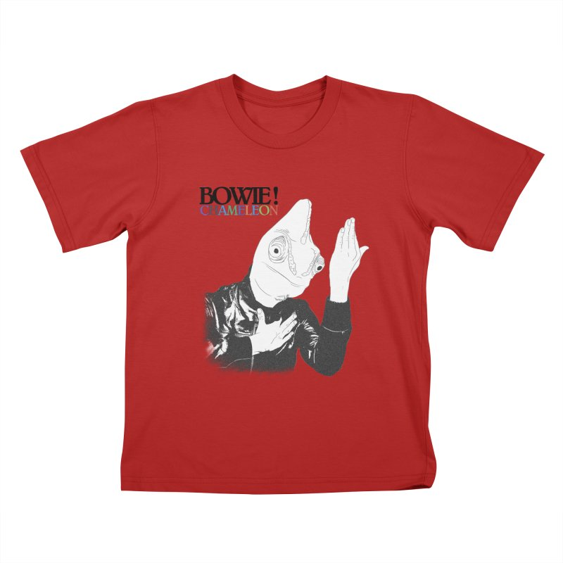 Bowie Chameleon Kids T-shirt by peregraphs's Artist Shop