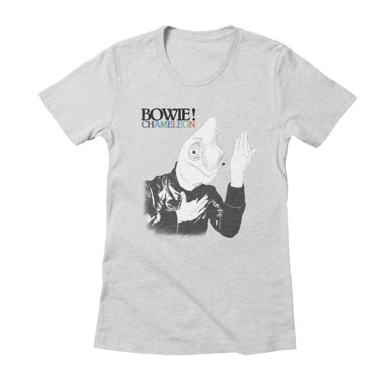 Bowie Chameleon Women's Fitted T-Shirt by peregraphs's Artist Shop