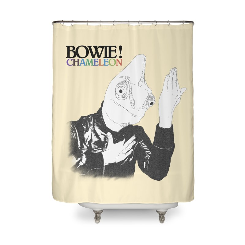 Bowie Chameleon Home Shower Curtain by peregraphs's Artist Shop