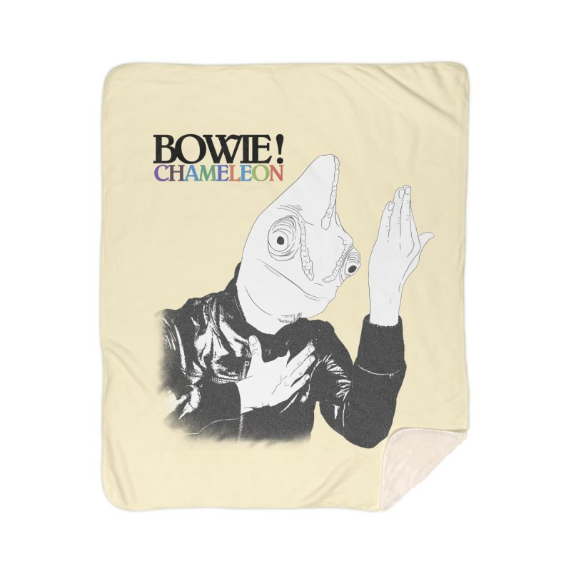 Bowie Chameleon Home Sherpa Blanket Blanket by peregraphs's Artist Shop