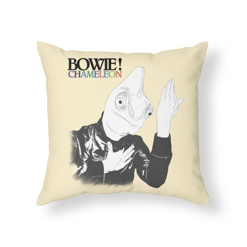Bowie Chameleon Home Throw Pillow by peregraphs's Artist Shop
