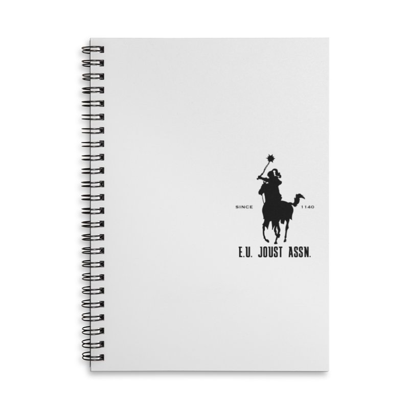 Medieval Polo Accessories Lined Spiral Notebook by peregraphs's Artist Shop
