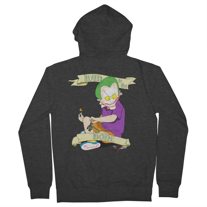Kid Joker Women's French Terry Zip-Up Hoody by peregraphs's Artist Shop