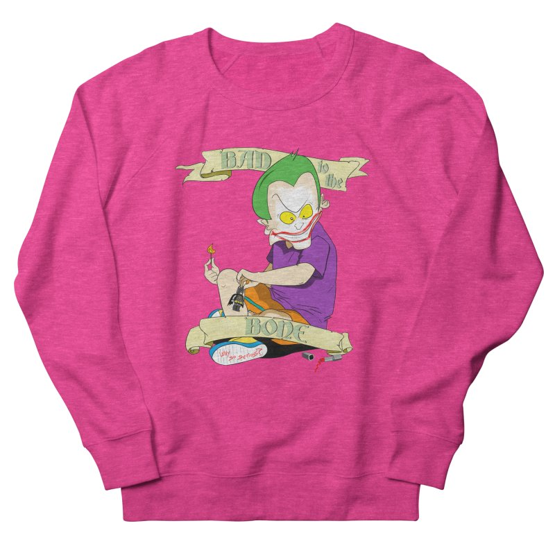 Kid Joker Women's French Terry Sweatshirt by peregraphs's Artist Shop