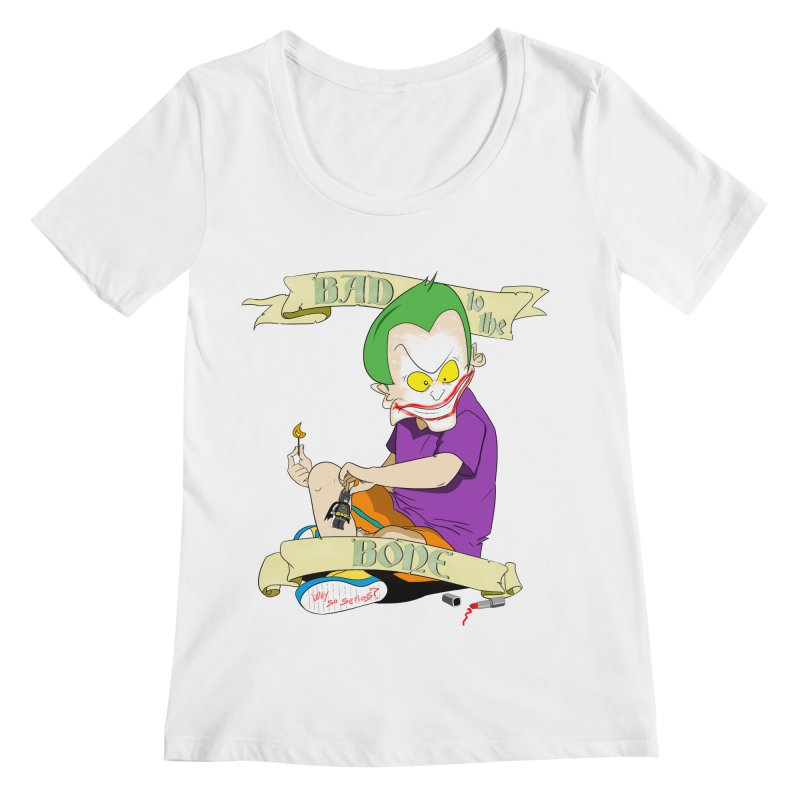 Kid Joker Women's Regular Scoop Neck by peregraphs's Artist Shop