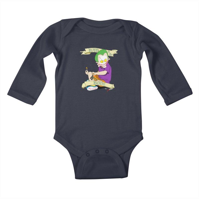 Kid Joker Kids Baby Longsleeve Bodysuit by peregraphs's Artist Shop