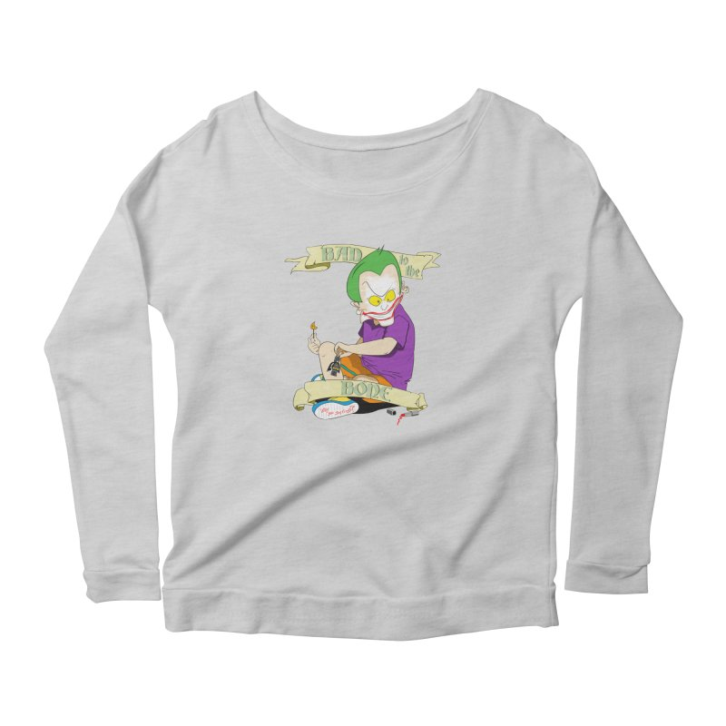 Kid Joker Women's Scoop Neck Longsleeve T-Shirt by peregraphs's Artist Shop