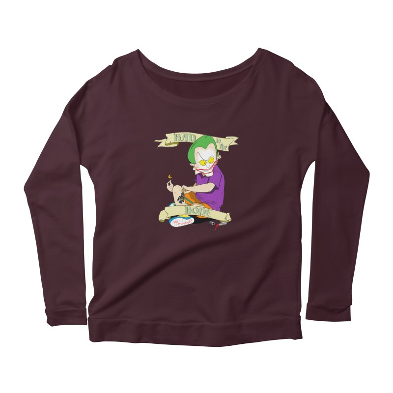 Kid Joker Women's Scoop Neck Longsleeve T-Shirt by peregraphs's Artist Shop