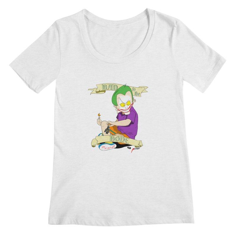 Kid Joker Women's Scoop Neck by peregraphs's Artist Shop