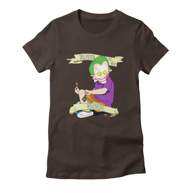 Kid Joker Women's Fitted T-Shirt by peregraphs's Artist Shop