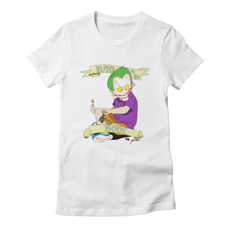 Kid Joker Women's Fitted T-Shirt by peregraphs's Artist Shop