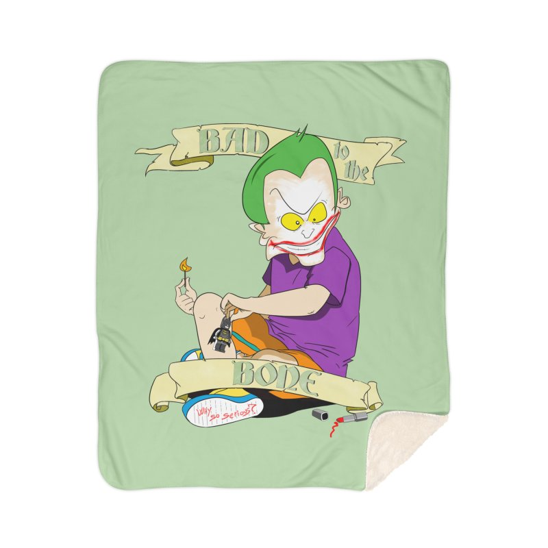 Kid Joker Home Sherpa Blanket Blanket by peregraphs's Artist Shop