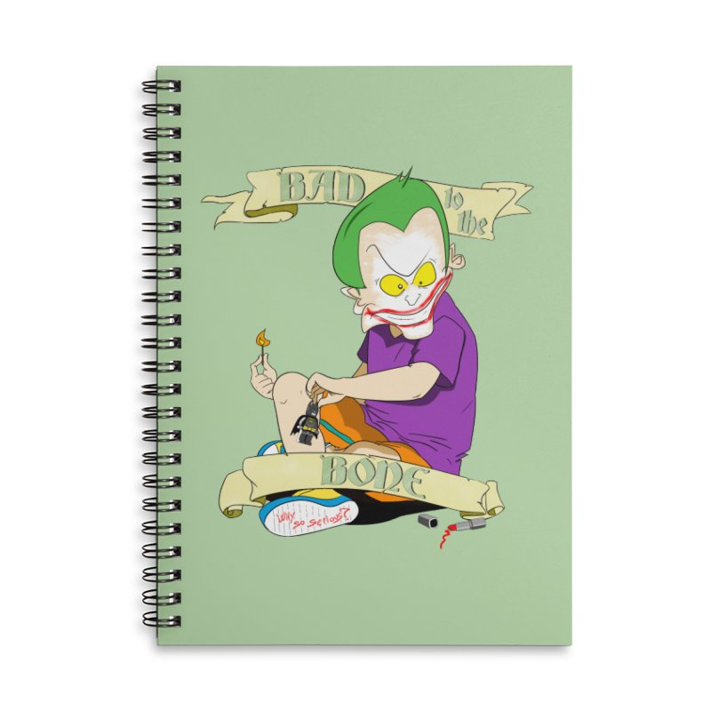 Kid Joker Accessories Lined Spiral Notebook by peregraphs's Artist Shop