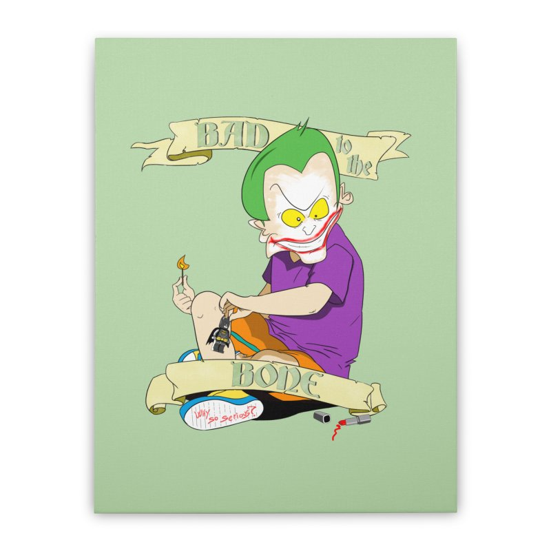 Kid Joker Home Stretched Canvas by peregraphs's Artist Shop