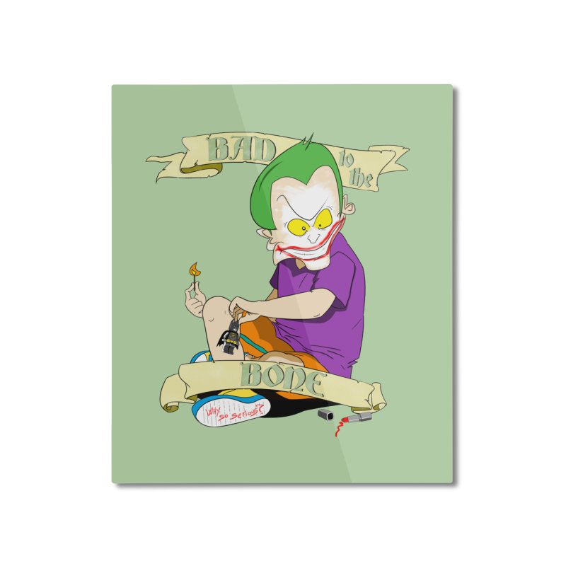 Kid Joker Home Mounted Aluminum Print by peregraphs's Artist Shop