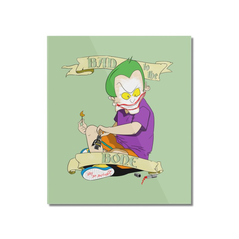Kid Joker Home Mounted Acrylic Print by peregraphs's Artist Shop