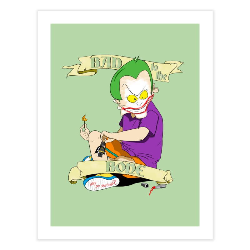 Kid Joker Home Fine Art Print by peregraphs's Artist Shop