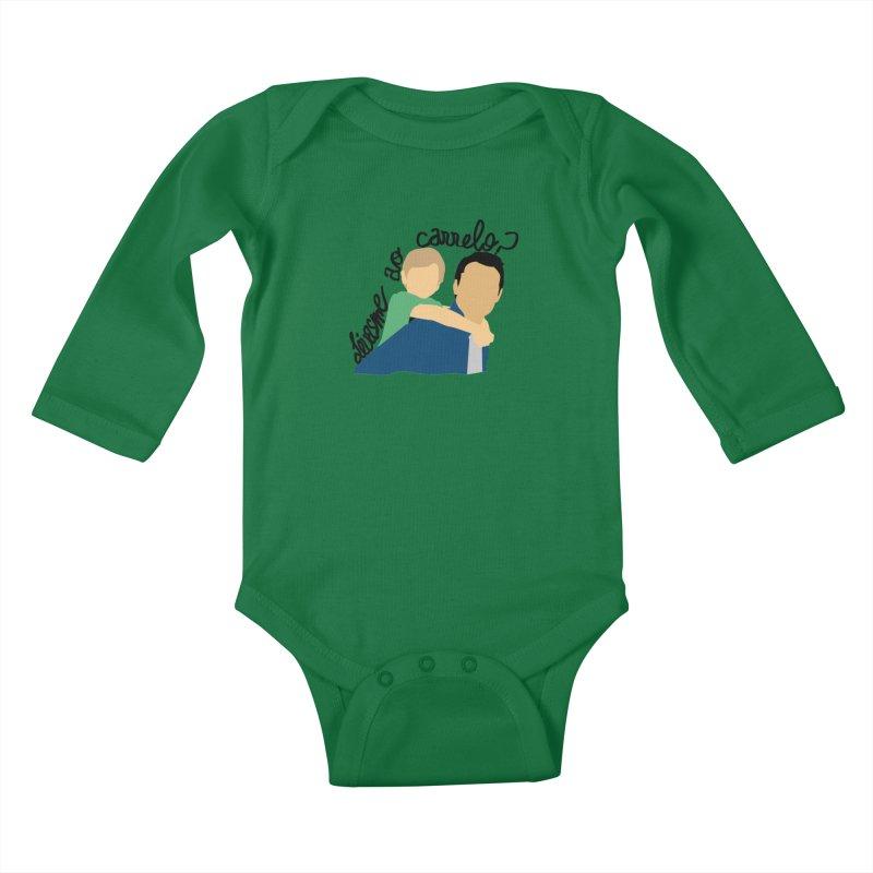 Levasme ao carrelo? Kids Baby Longsleeve Bodysuit by peregraphs's Artist Shop