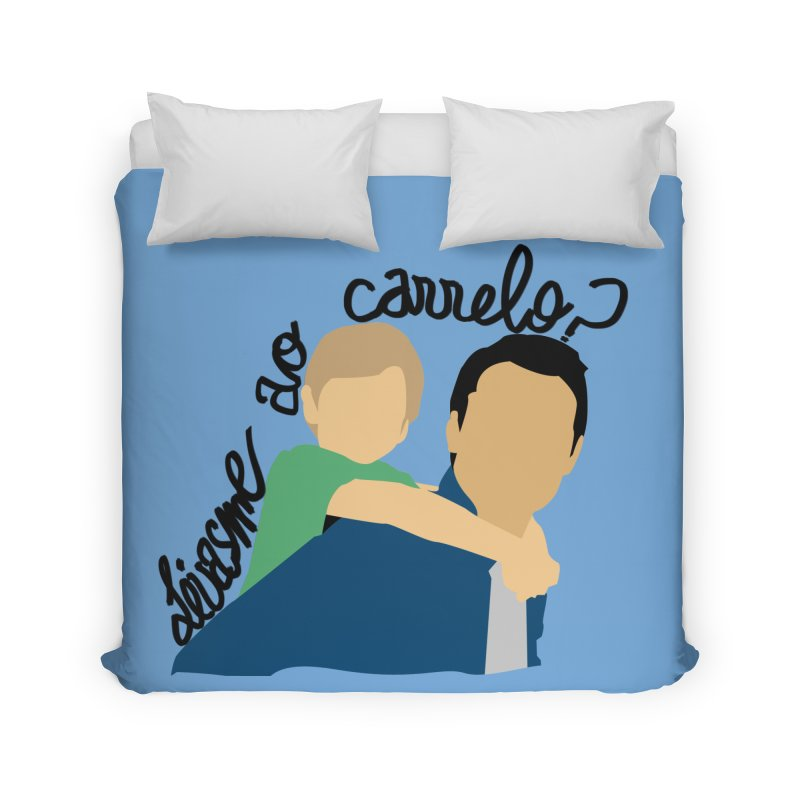 Levasme ao carrelo? Home Duvet by peregraphs's Artist Shop