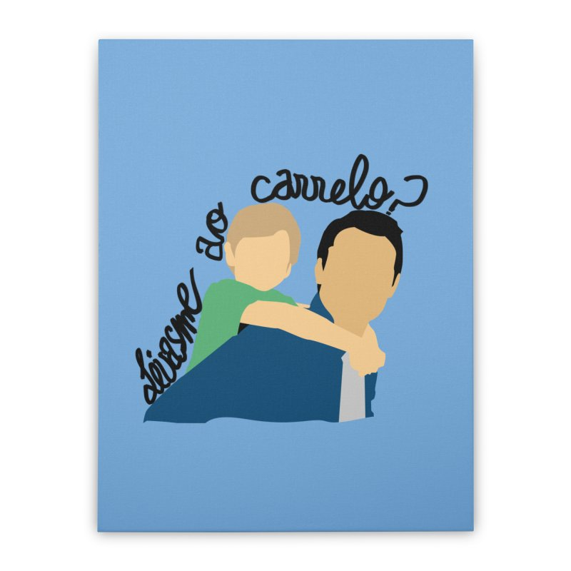 Levasme ao carrelo? Home Stretched Canvas by peregraphs's Artist Shop
