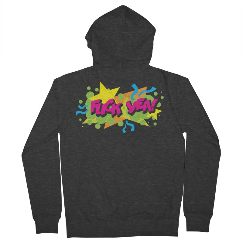 EFF YEA! Men's French Terry Zip-Up Hoody by periwinkelle's Artist Shop