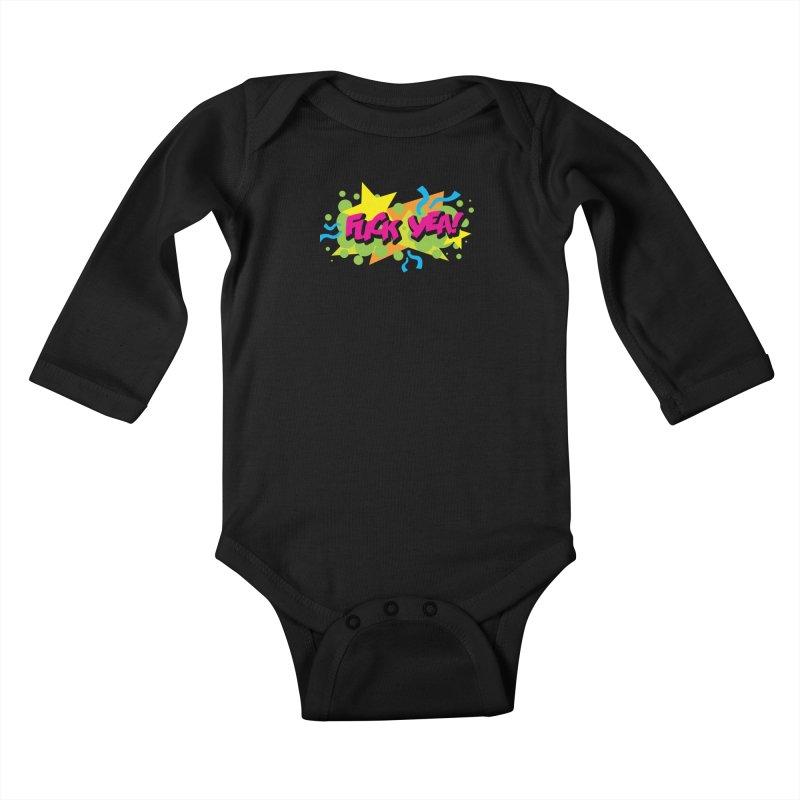 EFF YEA! Kids Baby Longsleeve Bodysuit by periwinkelle's Artist Shop