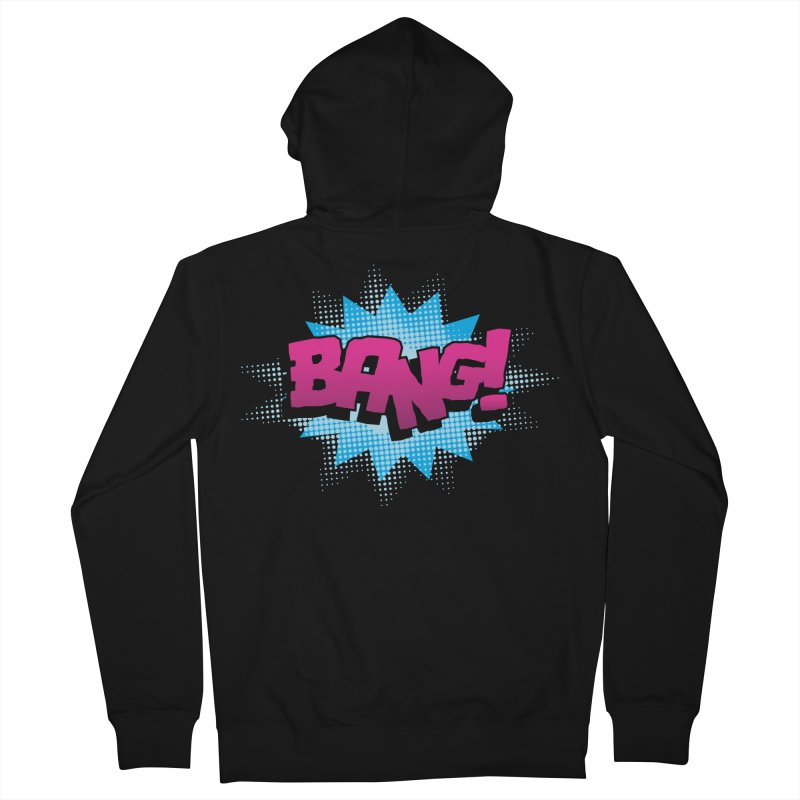 BANG! Men's French Terry Zip-Up Hoody by periwinkelle's Artist Shop