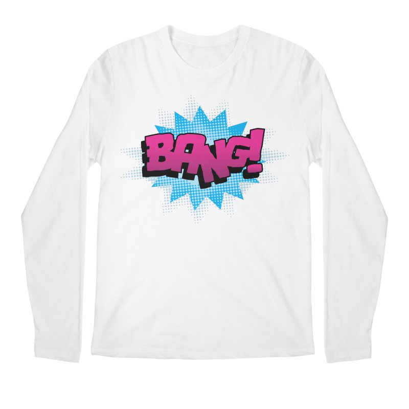 BANG! Men's Regular Longsleeve T-Shirt by periwinkelle's Artist Shop