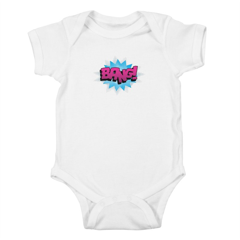 BANG! Kids Baby Bodysuit by periwinkelle's Artist Shop