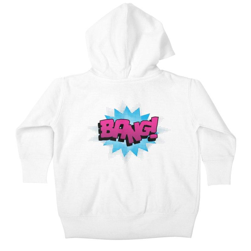 BANG! Kids Baby Zip-Up Hoody by periwinkelle's Artist Shop