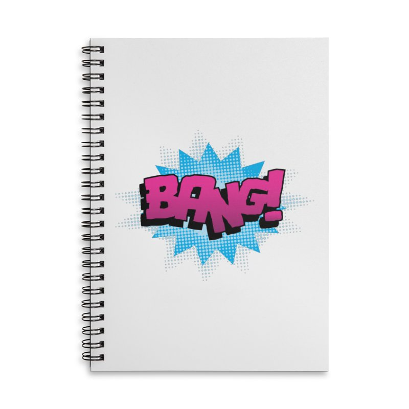 BANG! Accessories Lined Spiral Notebook by periwinkelle's Artist Shop