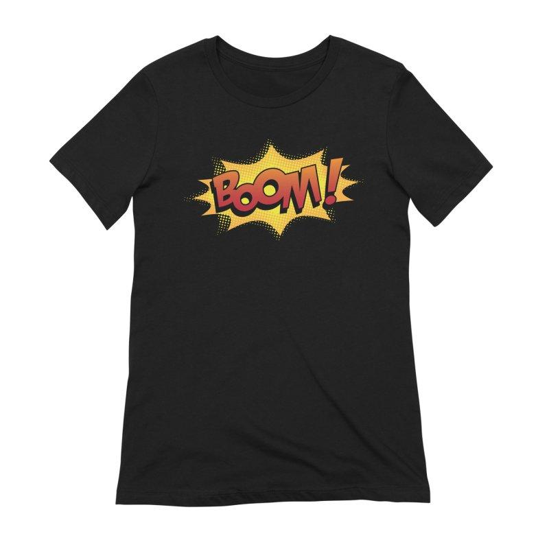 BOOM! Women's Extra Soft T-Shirt by periwinkelle's Artist Shop