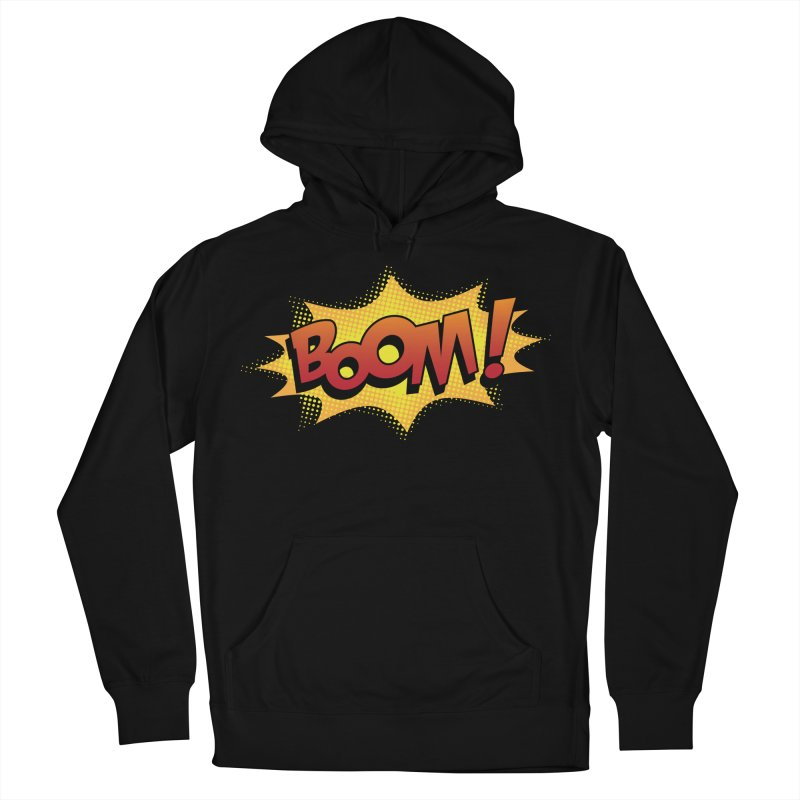 BOOM! Men's French Terry Pullover Hoody by periwinkelle's Artist Shop