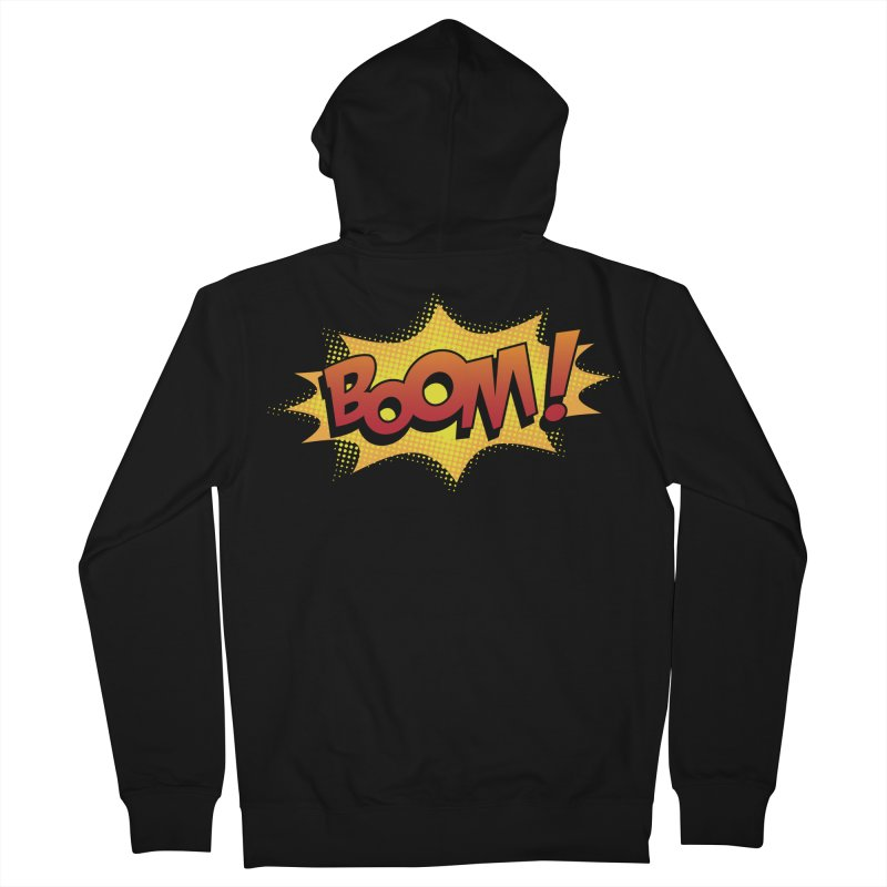 BOOM! Men's French Terry Zip-Up Hoody by periwinkelle's Artist Shop