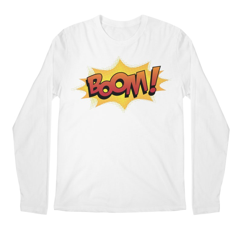 BOOM! Men's Regular Longsleeve T-Shirt by periwinkelle's Artist Shop