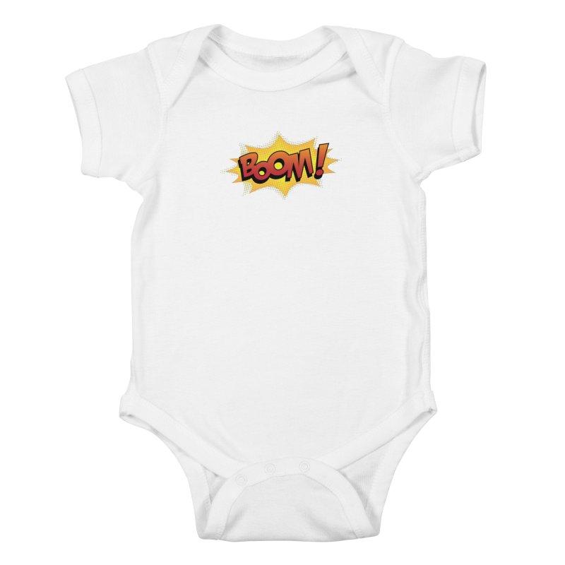 BOOM! Kids Baby Bodysuit by periwinkelle's Artist Shop