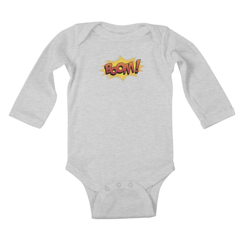 BOOM! Kids Baby Longsleeve Bodysuit by periwinkelle's Artist Shop