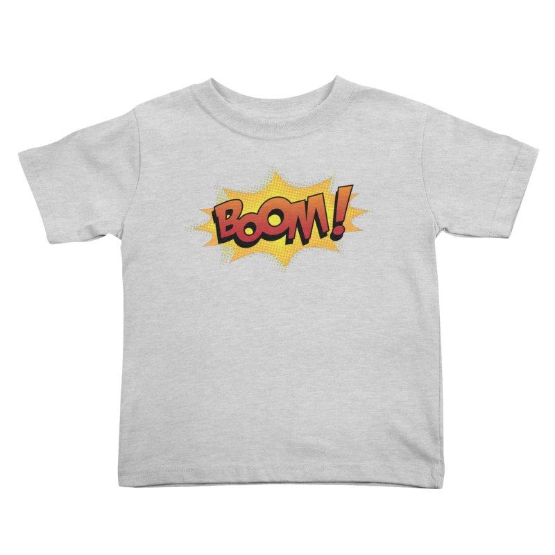 BOOM! Kids Toddler T-Shirt by periwinkelle's Artist Shop