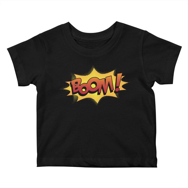 BOOM! Kids Baby T-Shirt by periwinkelle's Artist Shop