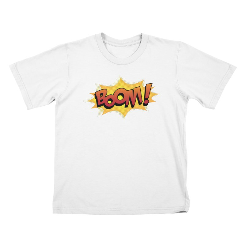 BOOM! Kids T-Shirt by periwinkelle's Artist Shop