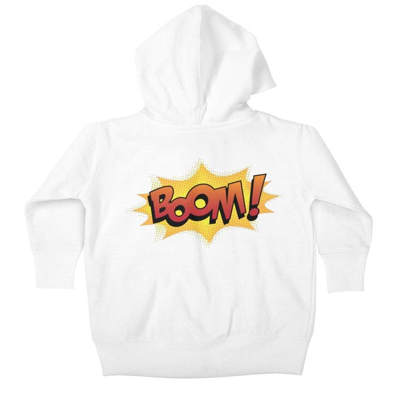 BOOM! Kids Baby Zip-Up Hoody by periwinkelle's Artist Shop