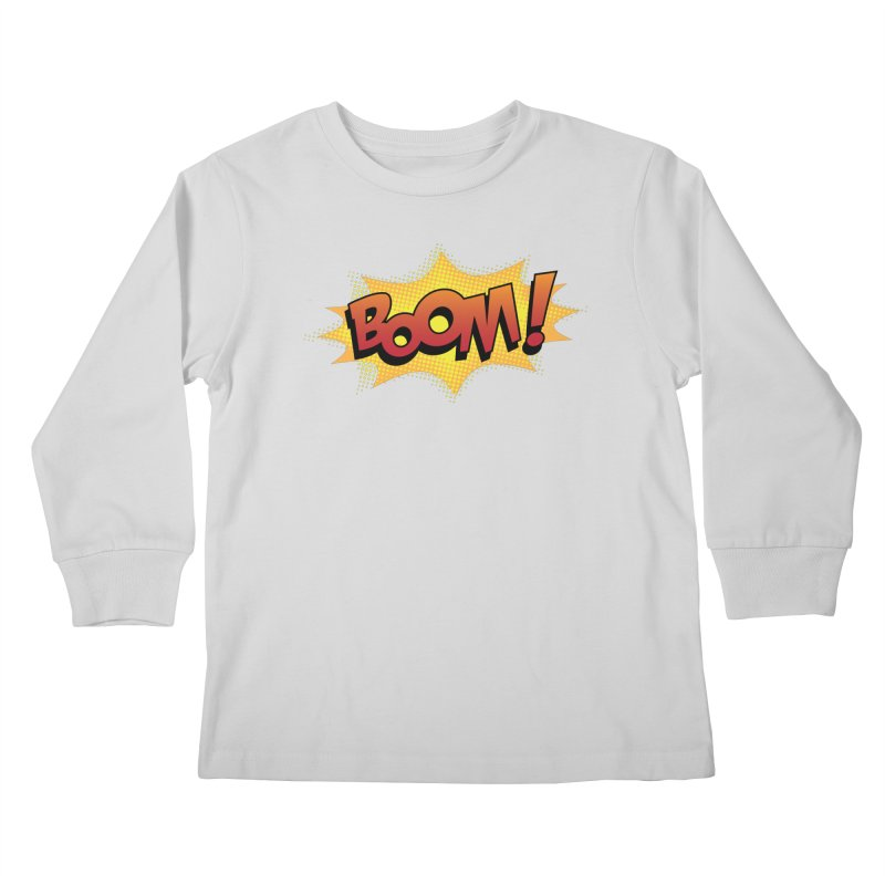 BOOM! Kids Longsleeve T-Shirt by periwinkelle's Artist Shop