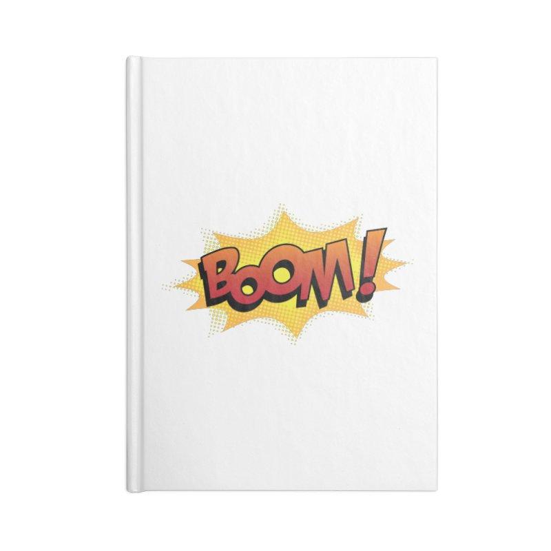 BOOM! Accessories Blank Journal Notebook by periwinkelle's Artist Shop