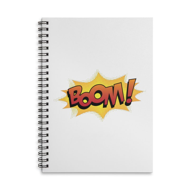BOOM! Accessories Lined Spiral Notebook by periwinkelle's Artist Shop